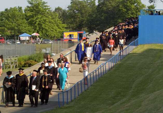 Scenes from the Danbury High School graduation on Wednesday, June 20, 2012. Photo: Jason Rearick / The News-Times