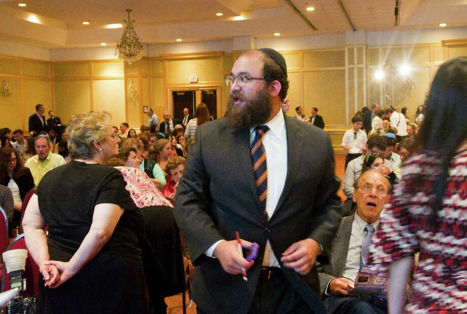 Rabbi Chezy Deren at the Friendship Circle's Evening of Appreciation Celebrating 10 Years at the Stamford Plaza Hotel in Stamford, Conn., May 13, 2012. Photo: Keelin Daly / Stamford Advocate