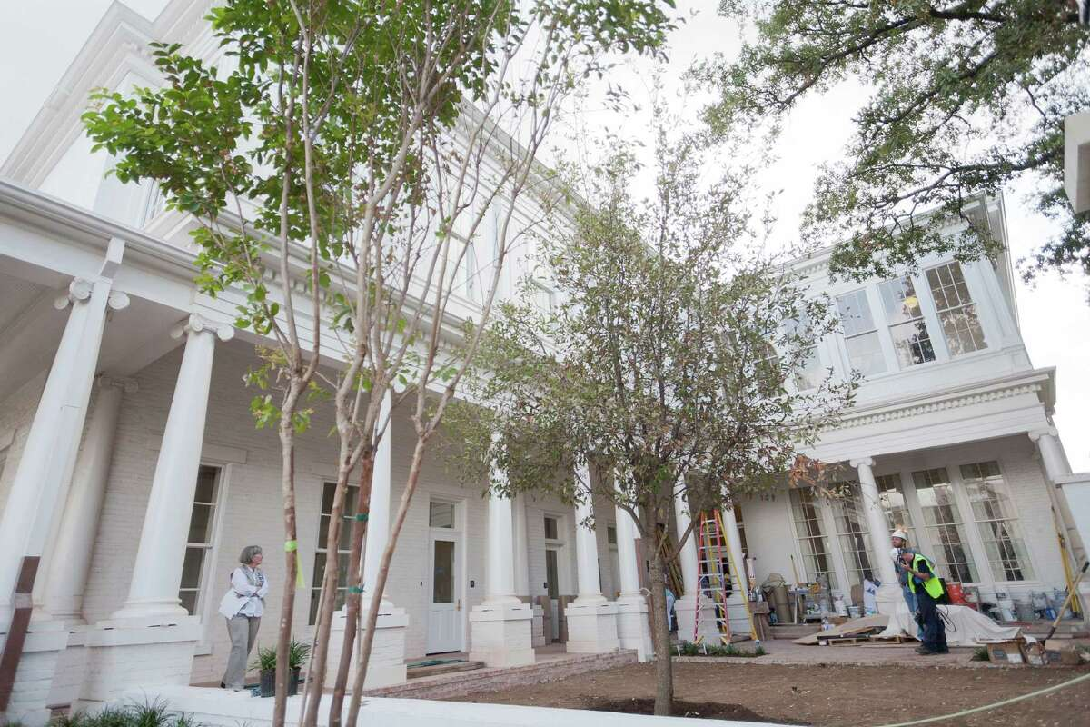The mansion was heavily damaged by an arsonist in 2008, but new security will be in place when Gov. Rick Perry and his wife, Anita, move back in.