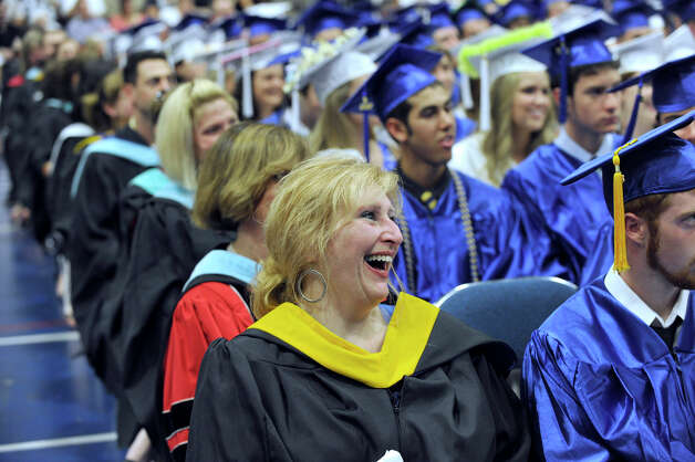 Newtown High School held its graduation Wednesday, June 20, 2012 at the O'Neill Center at Western Connecticut State University, in Danbury, Ct. Photo: Carol Kaliff