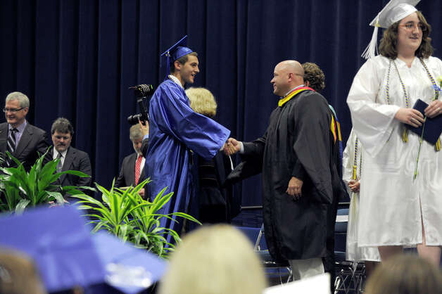 Newtown High School held its graduation Wednesday, June 20, 2012 at the O'Neill Center at Western Connecticut State University, in Danbury, Ct. Photo: Carol Kaliff / The News-Times