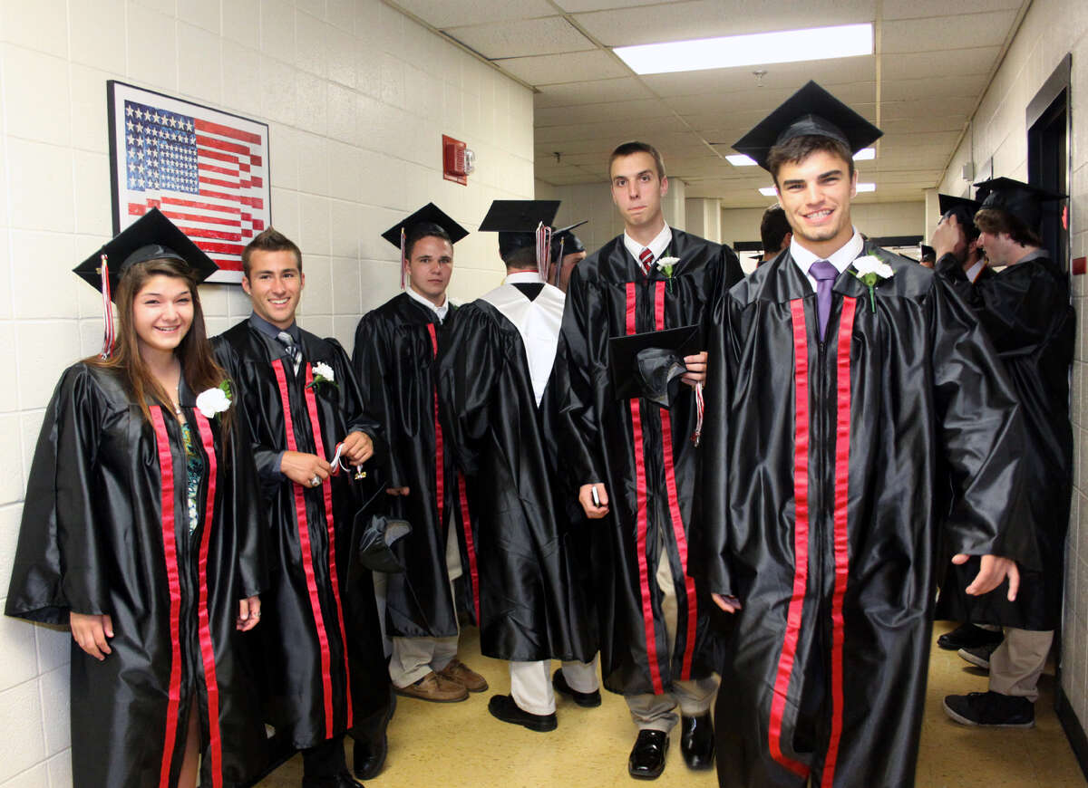 The Pomperaug Regional High School Graduation was held on June 20, 2012 at the high school in Southbury, CT. Photo taken June 20, 2012.