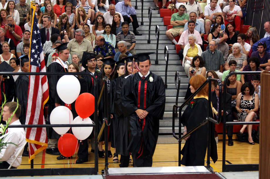 The Pomperaug Regional High School Graduation was held on June 20, 2012 at the high school in Southbury, CT. Photo: Walter Kidd
