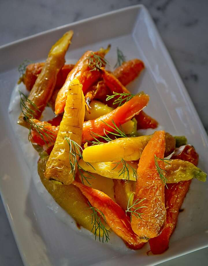 Baby carrots with yogurt and dill, among the small plates on the oft-changing menu. Photo: John Storey, Special To The Chronicle