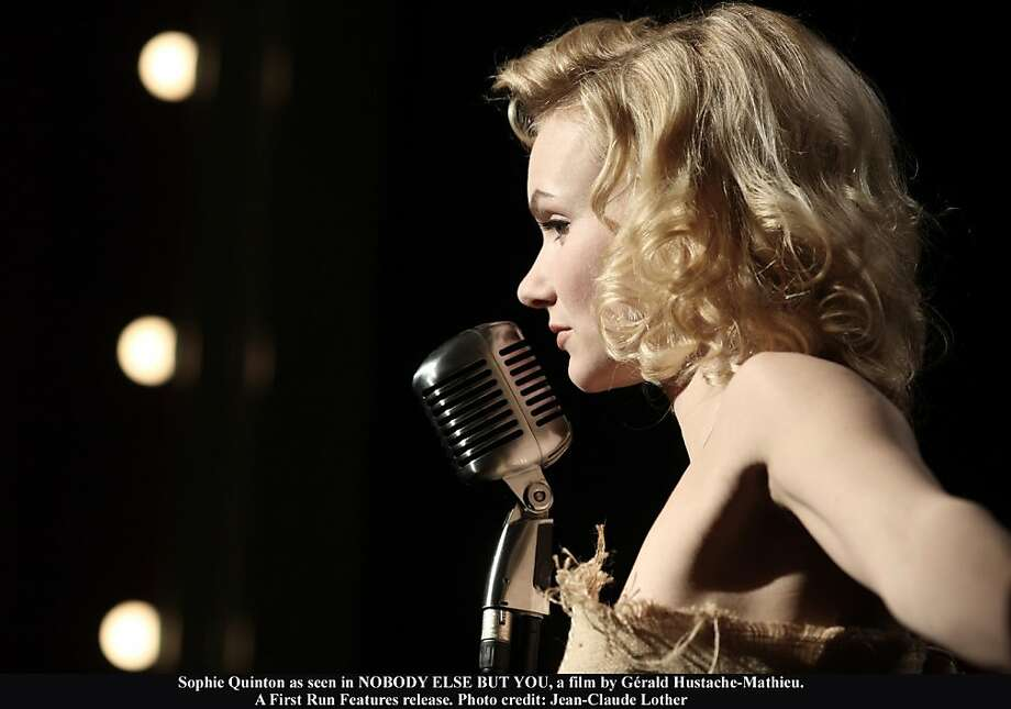 """Sophie Quinton plays a woman who believes she's the reincarnated Marilyn Monroe in """"Nobody Else But You."""" Sophie Quinton as seen in NOBODY ELSE BUT YOU, a film by Gérald Hustache-Mathieu. A First Run Features release. Photo credit: Jean-Claude Lother Photo: Jean-Claude Locher, First Run Features"""