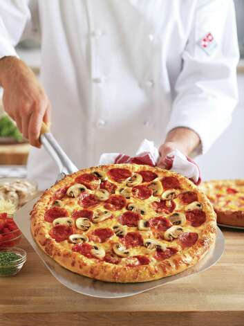 A pepperoni pizza made with Domino's Pizza's new recipe. Photo: Associated Press
