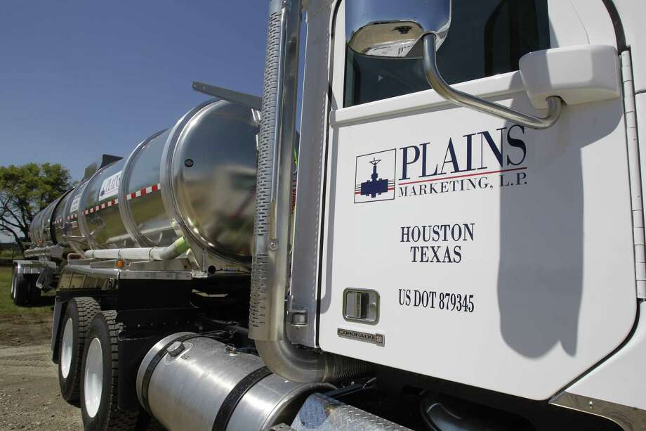 Tanker truck at Gulf Coast Trucking Plains Marketing, LP, 10214 Beaumont Hwy., Tuesday, Oct. 4, 2011, in Houston. ( Melissa Phillip / Houston Chronicle ) Photo: Melissa Phillip / © 2011 Houston Chronicle