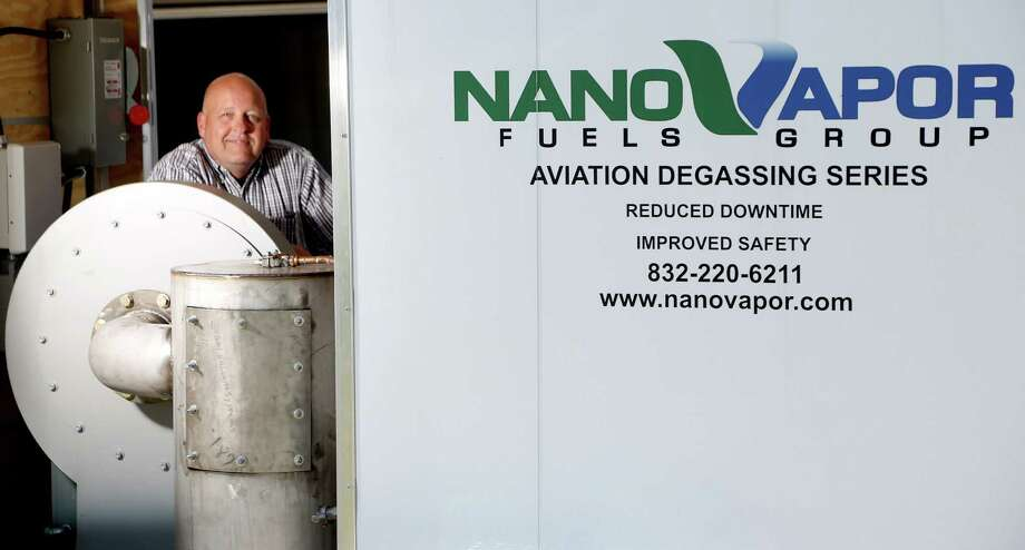 5/23/12:  Jim Rice CEO of Nano Vapor Fuels Group Aviation Group. NanoVapor Fuels moved to Houston in 2009 from Dallas to be closer to its target market, large oil storage tanks. The companyâÄôs technology, Rice said, helps capture fuel vapors so they can be reused or recycled rather than burned off. While the customers are in Houston, Rice says big oil companies are traditionally risk averse since they invest so much money in their infrastructure. They are only now starting to be more open to new technologies, he said. âÄúFor an area to be nurturing of starting new technology, there have to be ideas, money and a nurturing environment where potential customers want new technology and are willing to share some of the risk,âÄù Rice said. âÄúHouston is growing that way, but four or five years ago it wasnâÄôt that way in oil and gas.âÄù Photo: Thomas B. Shea / © 2012 Thomas B. Shea