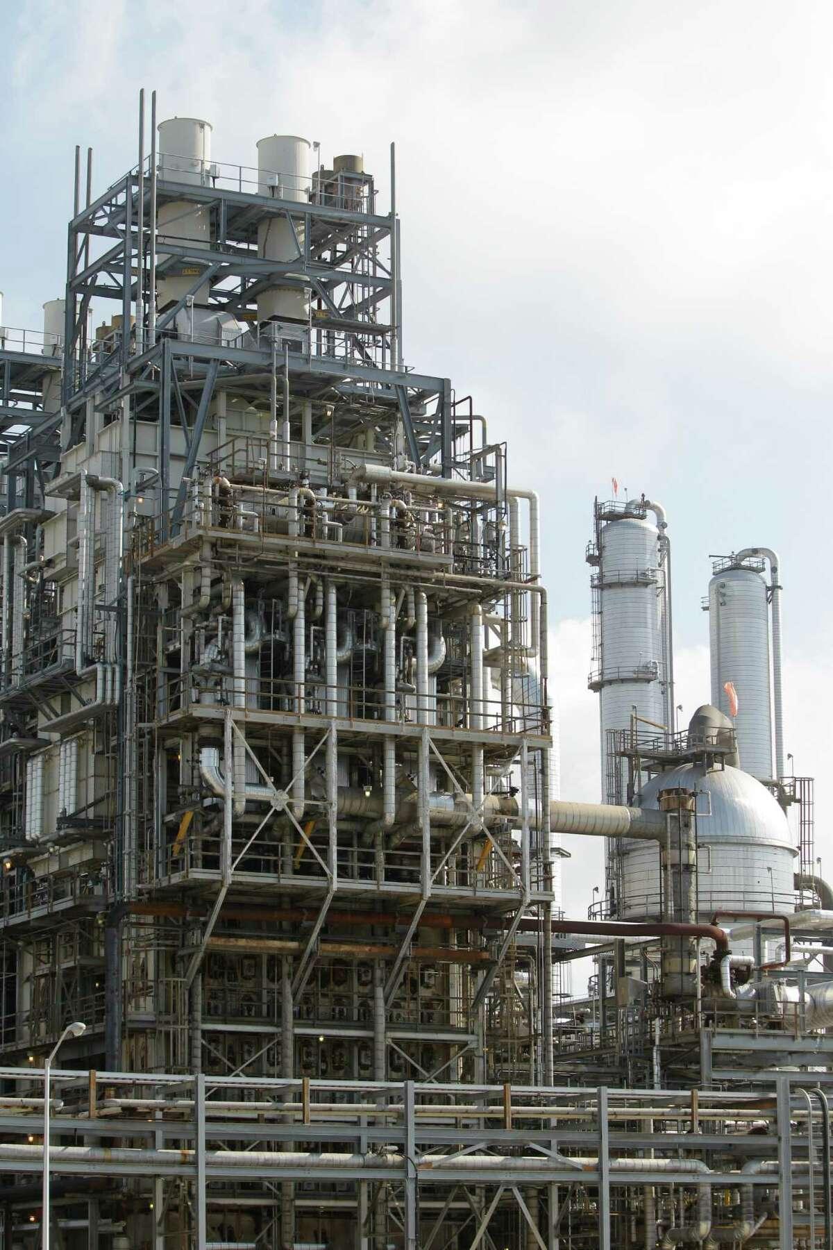 An ethylene unit shown at the Chevron Phillips Chemical Company's Cedar Bayou Plant, 9500 I-10 East, Tuesday, June 5, 2012, in Baytown. ( Melissa Phillip / Houston Chronicle )