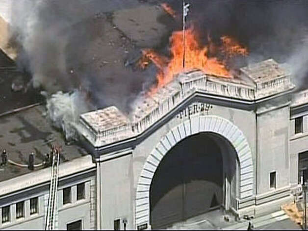 A 4-alarm fire burned the facade at Pier 29 in San Francisco on on June 20th.