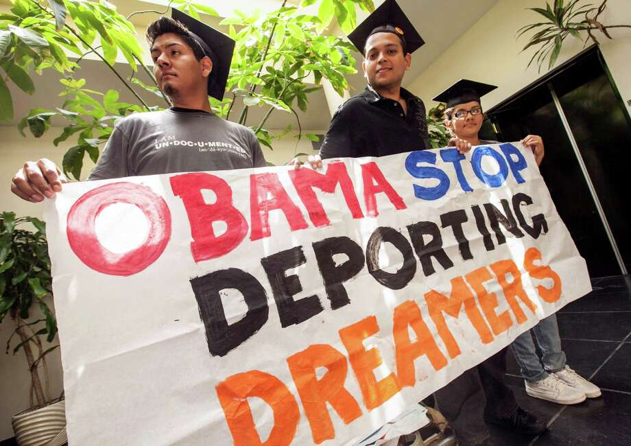 Students on June 14 in Culver City, Calif.,  demanded that the president cease the deportation of illegal immigrant students. The next day, he issued such an order — a decision that continues to generate passionate comment. Photo: Damian Dovarganes, Associated Press