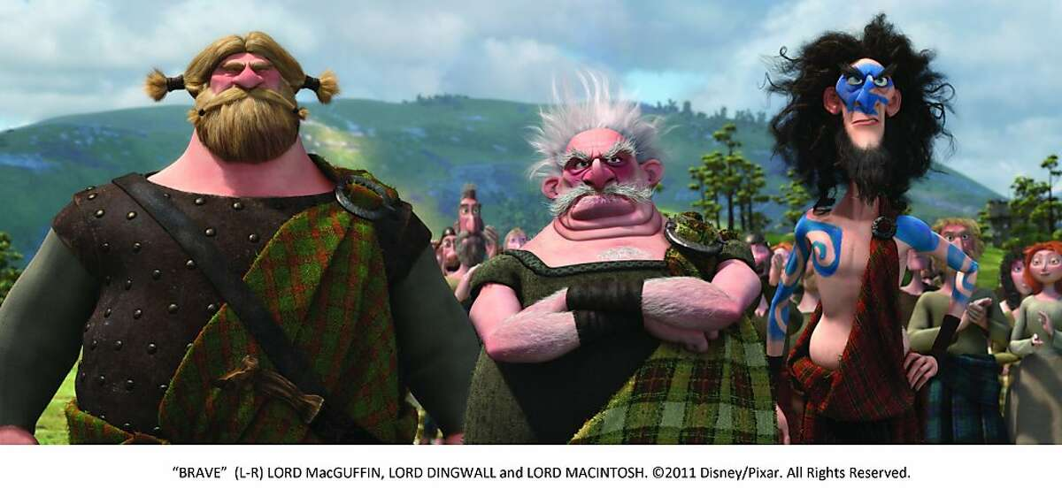 """""""BRAVE"""" (L-R) LORD MacGUFFIN, LORD DINGWALL and LORD MACINTOSH."""