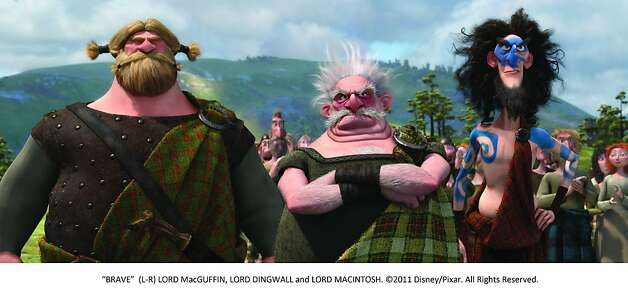 """BRAVE"" (L-R) LORD MacGUFFIN, LORD DINGWALL and LORD MACINTOSH. Photo: Pixar, Walt Disney Films"