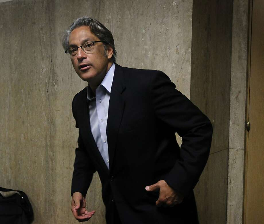 Suspended sheriff Ross Mirkarimi leaves Judge Garrett Wong's courtroom after attending his probation hearing at the Hall of Justice in San Francisco, Calif. on Tuesday, June 19, 2012. Photo: Paul Chinn, The Chronicle