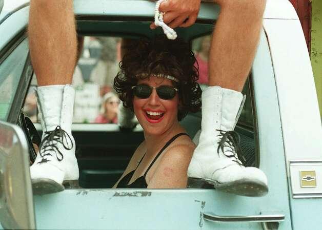 1996: Emily Batlan drives the Ethel Mermon Memorial Choir Truck through the Gay Pride parade held on Capitol Hill. Photo by Loren Callahan Photo: Seattlepi.com Photos