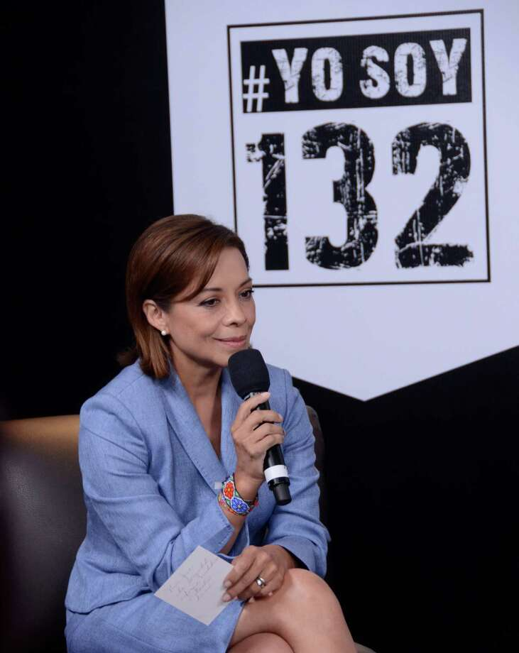 "A handout photo realeased by the student movement ""I Am #132"" (Yo Soy #132) of Josefina Vasquez Mota, for the National Action Party (PAN)during the debate of presidential candidates, in Mexico city, on June 19, 2012. Elections will take place next July 1 in Mexico. AFP PHOTO/ YO SOY #132 - Jose Solorzano        (Photo credit should read JOSE ANDRES SOLORZANO/AFP/GettyImages) Photo: AFP, Getty Images / 2012 AFP"
