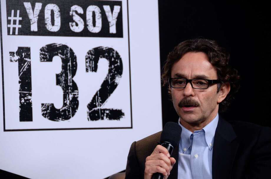 """A handout photo realeased by the student movement """"I Am #132"""" (Yo Soy #132) of Gabriel Quadri for the Alliance Party (PANAL) during the debate of presidential candidates, in Mexico city, on June 19, 2012. Elections will take place next July 1 in Mexico. AFP PHOTO/ YO SOY #132 - Jose Solorzano        (Photo credit should read JOSE ANDRES SOLORZANO/AFP/GettyImages) Photo: AFP, Getty Images / 2012 AFP"""