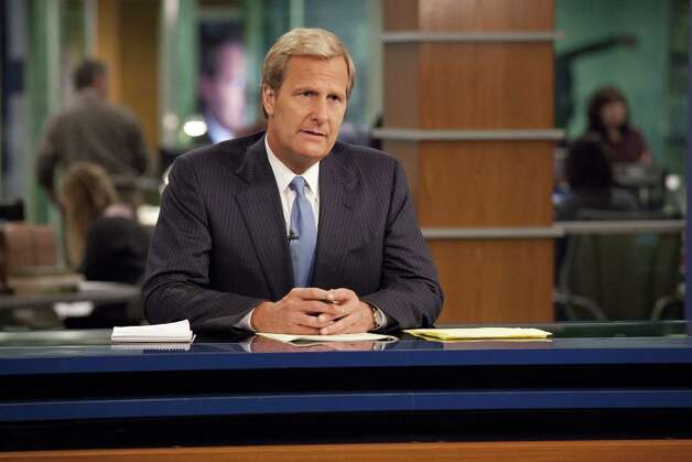 "This publicity image released by HBO shows Jeff Daniels portraying anchor Will McAvoy on the HBO series, ""The Newsroom,"" premiering Sunday, June 24, 2012 at 10 p.m. EST on HBO. Photo: AP"