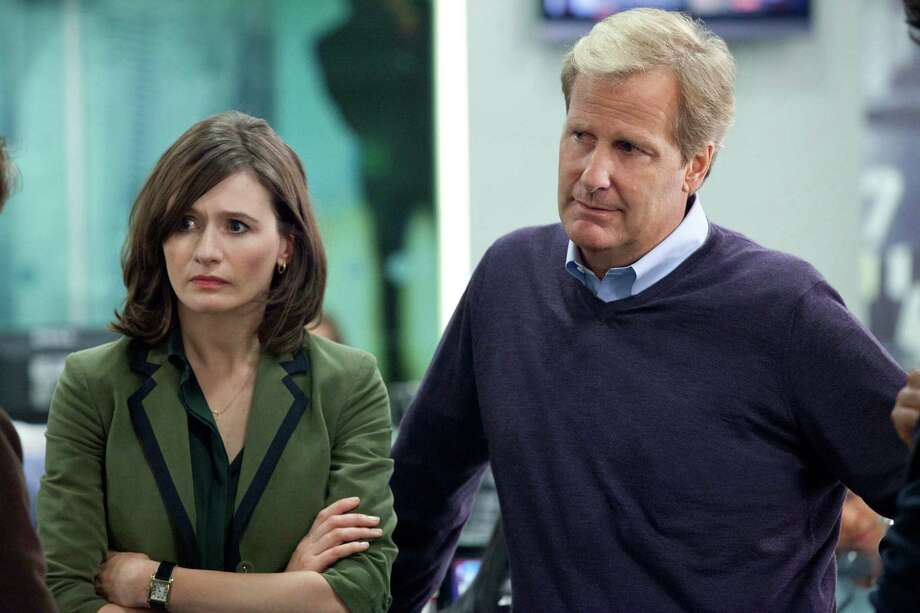 "This publicity image released by HBO shows Emily Mortimer as Mackenzie MacHale , left, and Jeff Daniels as Will McAvoy on the HBO series, ""The Newsroom,"" premiering Sunday, June 24, 2012 at 10 p.m. EST on HBO. Photo: AP"