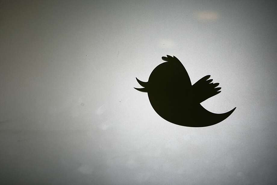 The Twitter logo at the entrance of the company's former headquarters in San Francisco in 2011. Photo: Kimihiro Hoshino, AFP/Getty Images