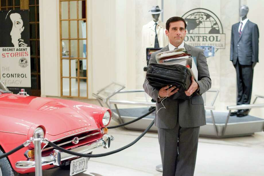 "STEVE CARELL stars as Maxwell Smart in Warner Bros. Pictures' and Village Roadshow Pictures' action comedy ""Get Smart,"" distributed by Warner Bros. Pictures. The film also stars Anne Hathaway, Dwayne Johnson and Alan Arkin. PHOTOGRAPHS TO BE USED SOLELY FOR ADVERTISING, PROMOTION, PUBLICITY OR REVIEWS OF THIS SPECIFIC MOTION PICTURE AND TO REMAIN THE PROPERTY OF THE STUDIO. NOT FOR SALE OR REDISTRIBUTION."