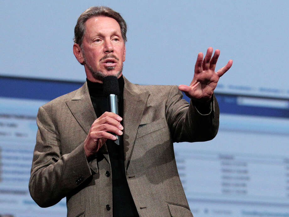 In this Oct. 5, 2011 photo, Oracle CEO Larry Ellison speaks during the Oracle OpenWorld Keynote in San Francisco. Ellison has reached a deal to buy 98 percent of the island of Lanai from its current owner, Hawaii Gov. Neil Abercrombie said Wednesday, June 20, 2012. Photo: AP