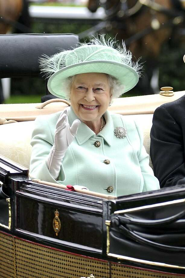 ASCOT, ENGLAND - JUNE 21:  Queen Elizabeth II attends Ladies Day on day three of Royal Ascot at Ascot Racecourse on June 21, 2012 in Ascot, England.  (Photo by Ben Pruchnie/Getty Images) Photo: Ben Pruchnie, Getty Images