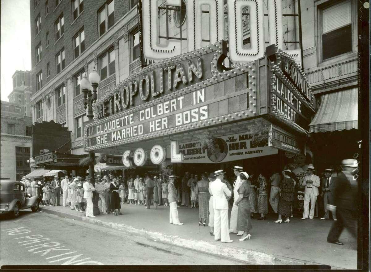 """COOL"": The Metropolitan Theater, on Houston's Main Street, in 1935."