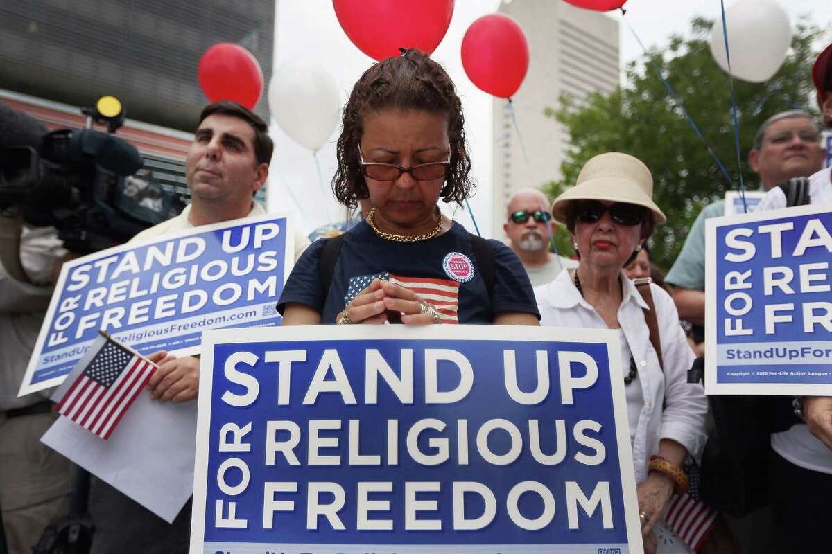 The debate over government-mandated contraception insurance escalates as U.S. Catholic Bishops urge continued protests, like this one in Miami earlier this year.