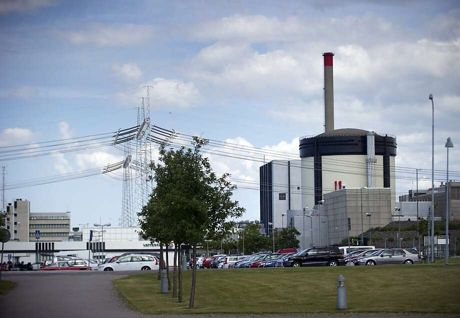 A photo taken on June 21, 2012 Sweden's Ringhals atomic power station. Sweden has tightened security at its three nuclear power plants after routine checks on June 20 revealed an explosive device planted on a truck inside its southern Ringhals plant. The material resembled a dough-like lump the size of a small fist and was discovered by a bomb-sniffing dog under a large truck in a secure zone. The discovery was made during a routine check as the truck passed between two inner zones, Ringhals spokesman Goesta Larsen told Swedish news agency TT.   AFP PHOTO / BJORN LARSSON ROSVALL              - SWEDEN OUT -BJORN LARSSON ROSVALL/AFP/GettyImages Photo: Bjorn Larsson Rosvall, AFP/Getty Images