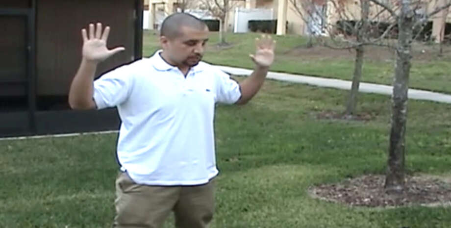 George Zimmerman in February 2012. / Sanford Police video via Zimmerm