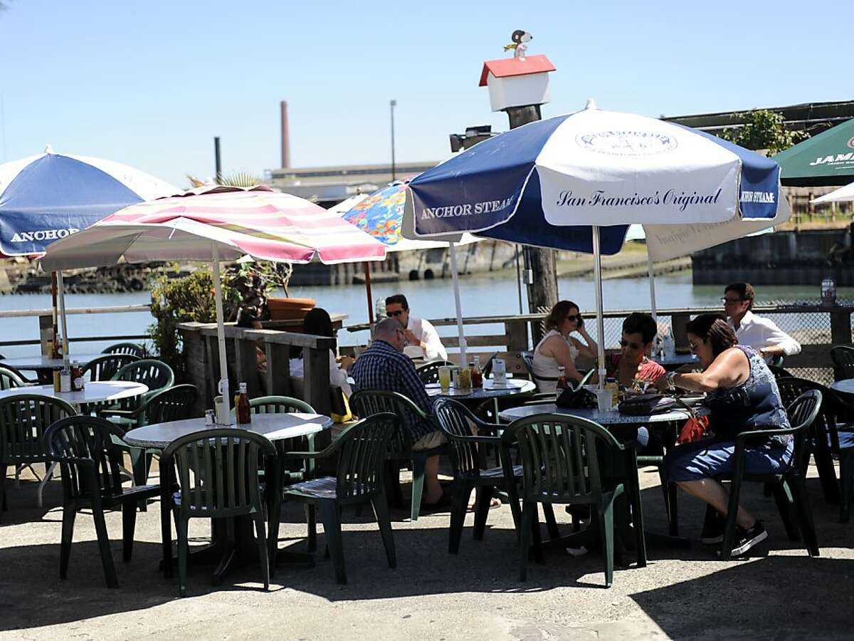 The Ramp Restaurant and Bar, located at 855 Terry Francois Street, is right on the water and has plenty of space for customers on Monday, June 11, 2012, in San Francisco, Calif.
