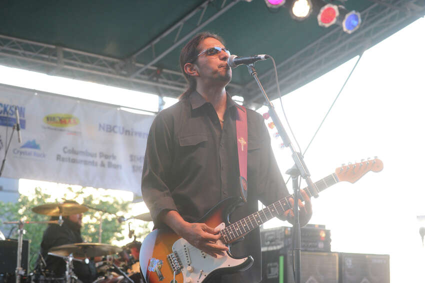 The Los Lonely Boys headline the first Alive @ Five of the season in Columbus Park in Stamford, Conn., June 21, 2012.