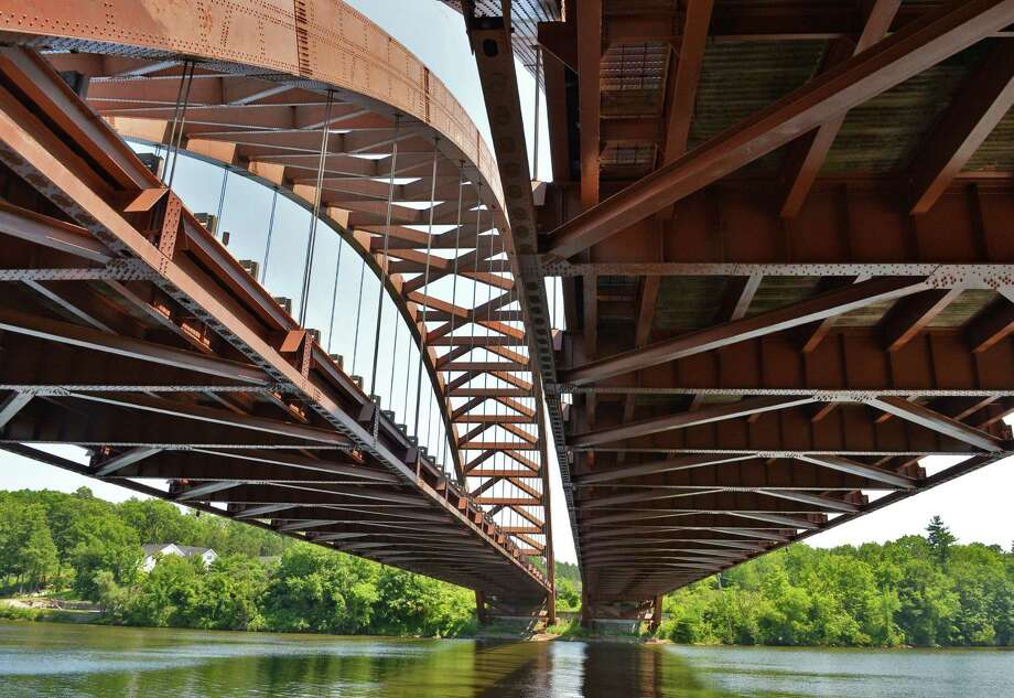 The Thaddeus Kosciusko Bridge carrying the Northway over the Mohawk River as seen from Clamsteam Road in Halfmoom Thursday June 21, 2012.  (John Carl D'Annibale / Times Union) Photo: John Carl D'Annibale / 00018205A