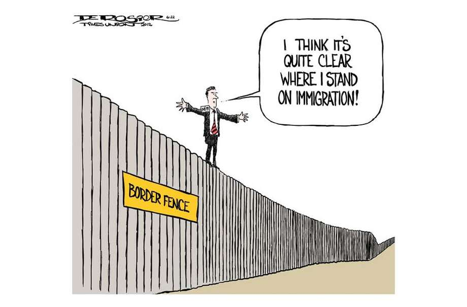 Romney sits on the fence on immigration Photo: John De Rosier