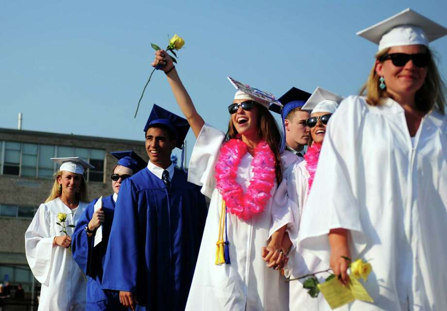 Fairfield Ludlowe High School holds commencement exercises Thursday, June 21, 2012 at the school in Fairfield, Conn. Photo: Autumn Driscoll / Connecticut Post