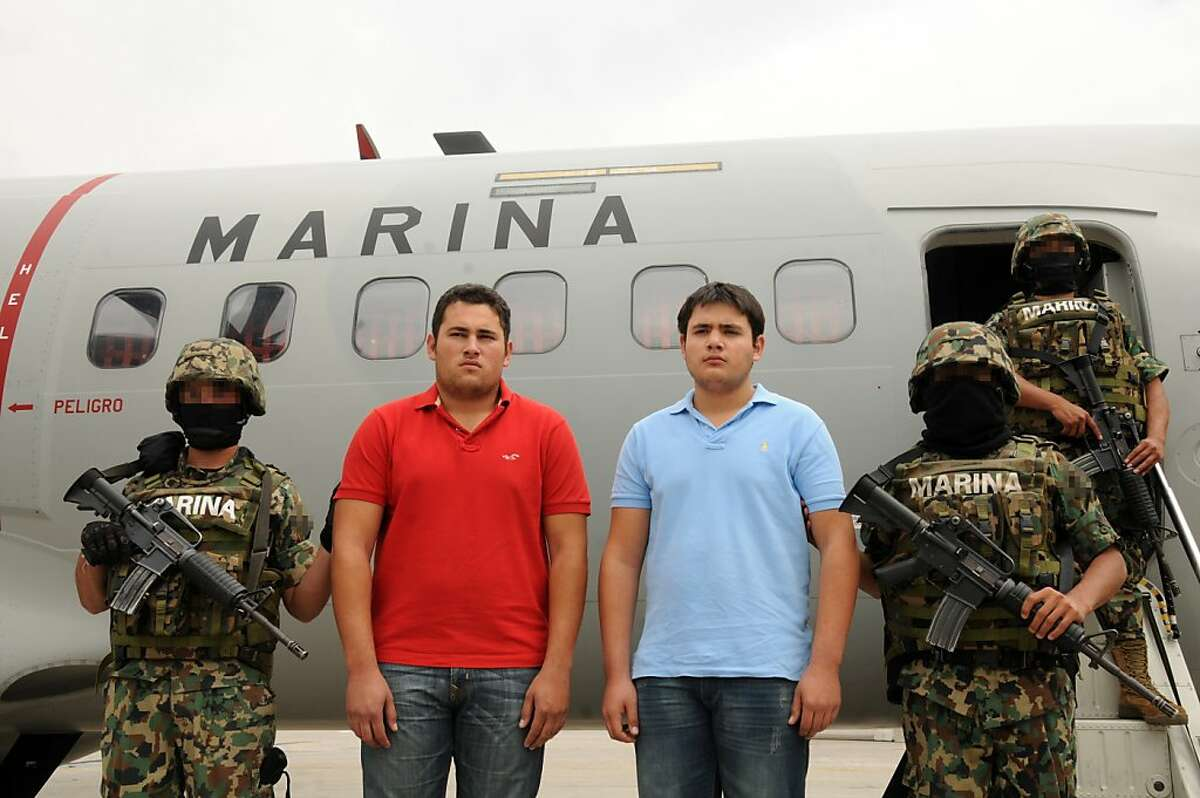 Handout picture released by the Mexican Navy showing the son of Joaquin Guzman Loera, aka