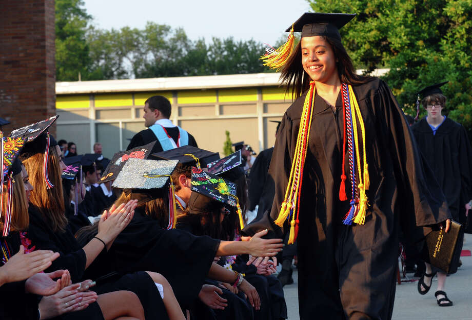 Highlights from Fairfield Warde High School's 8th Annual Commencement Exercises in Fairfield, Conn. on Thursday June 21, 2012. Photo: Christian Abraham / Connecticut Post