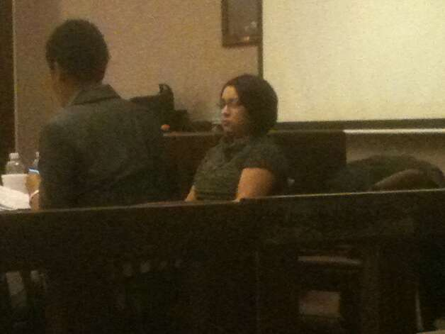 Andrisela Ng, 25, in cour last week during her trial. Photo: Sara Smith/Express-News