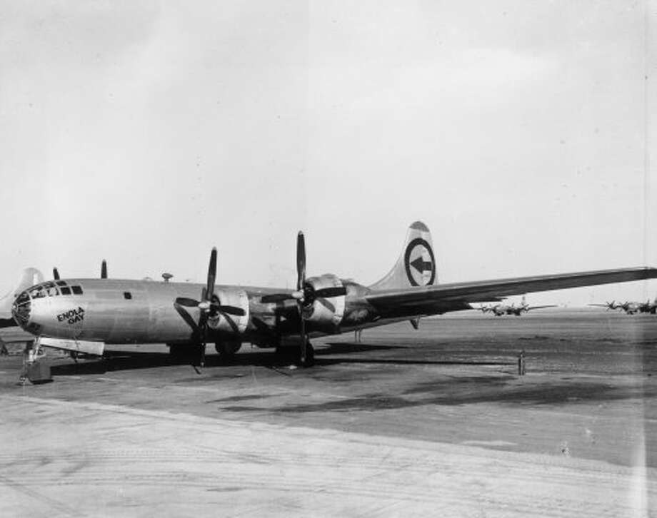 On Aug. 6, 1945, the B-29 Enola Gay dropped the world's first atomic bomb, on Hiroshima, Japan.