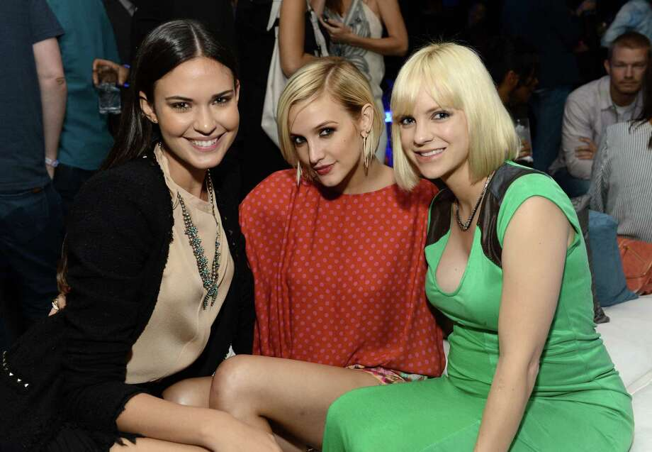 Actors Odette Annable, Ashlee Simpson, and Anna Faris attend the Samsung Galaxy S III Launch held at a private residence on June 21, 2012 in Los Angeles, California. Photo: Michael Kovac, Getty Images For Samsung / 2012 Getty Images