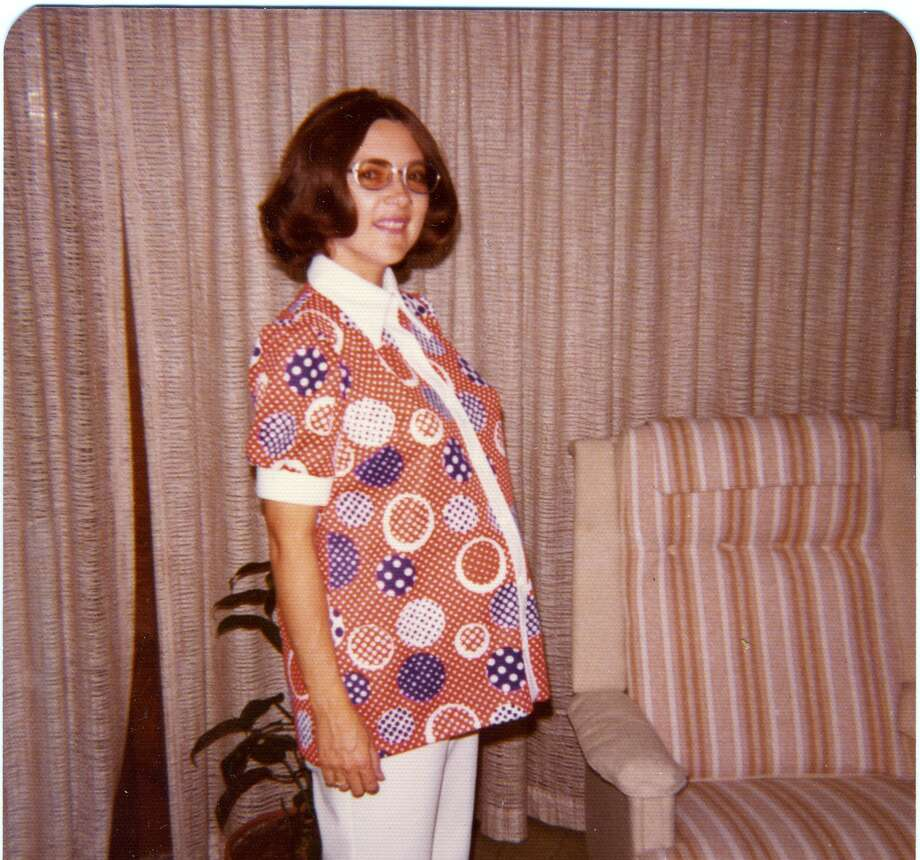 Then:Arlene R. Dias, in San Antonio in 1974, was nearly nine months pregnant with her daughter Rachel. Photo: COURTESY