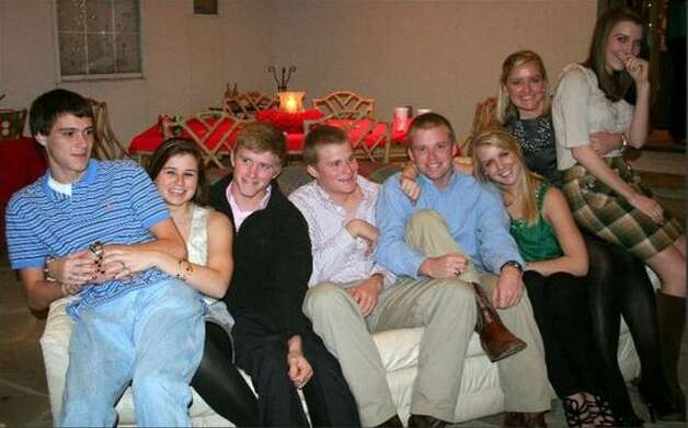 The Mitchell Cousins: Drew, 17, Morgan, 21, Brian, 19, Matt, 21, Will, 24, Cara, 23, Erin, 26, and Molly, 19, on Christmas Eve, 2010 and the home of family friends Jackie and John Meyer. Photo: Picasa, COURTESY