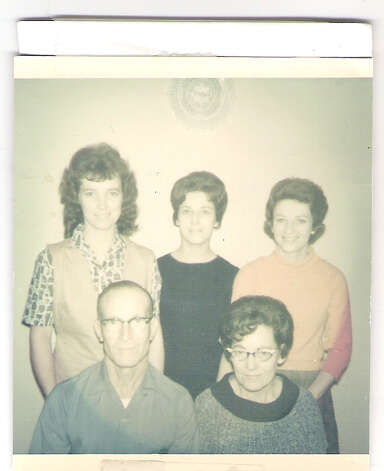 Back row: Barbara (Warren) Story (left), Louise (Warren Timmins), Sandra (Warren) Mitchel; Front row, Parents Louis & Alma Warren in 1964. Photo: COURTESY