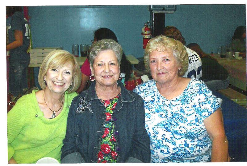 Sandra (Warren) Mitchel (left), Louise (Warren) Lacey and Barbara (Warren) Story in 2012.