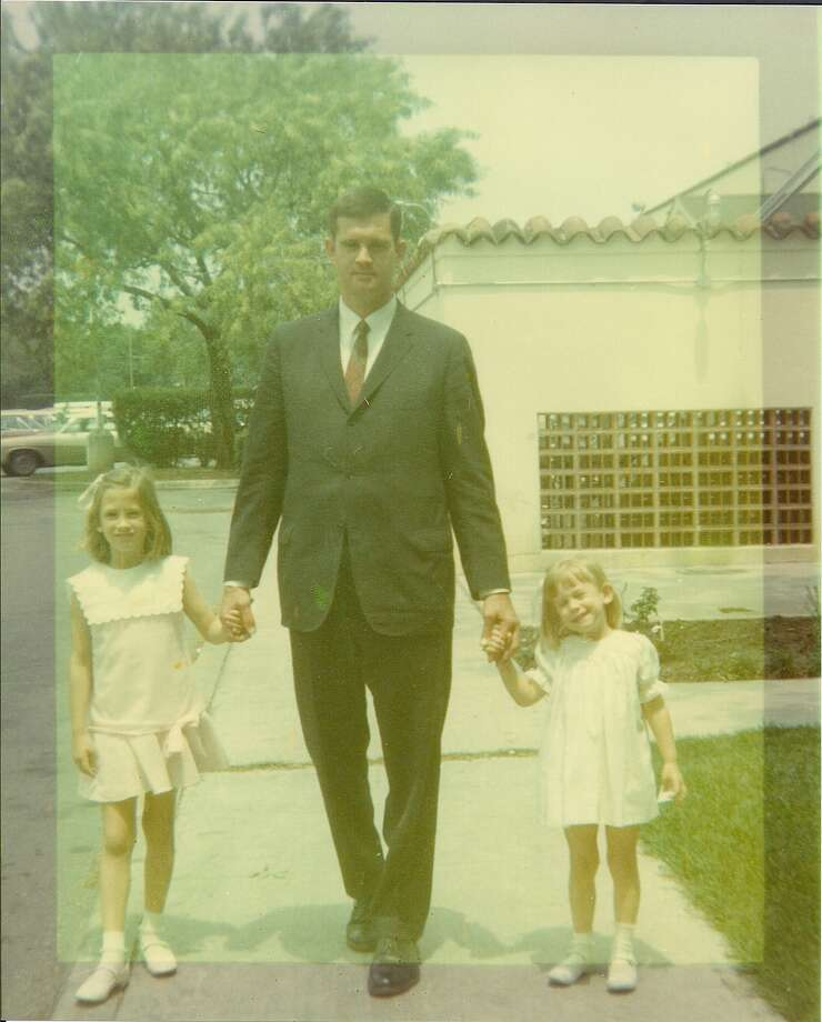 Larry Stephens poses with his daughters Ashley and Elizabeth at the Fort Sam Houston Officer's Club in 1970. Photo: COURTESY