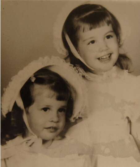 Sisters Melanie and Valerie Hovis as toddlers 1964.