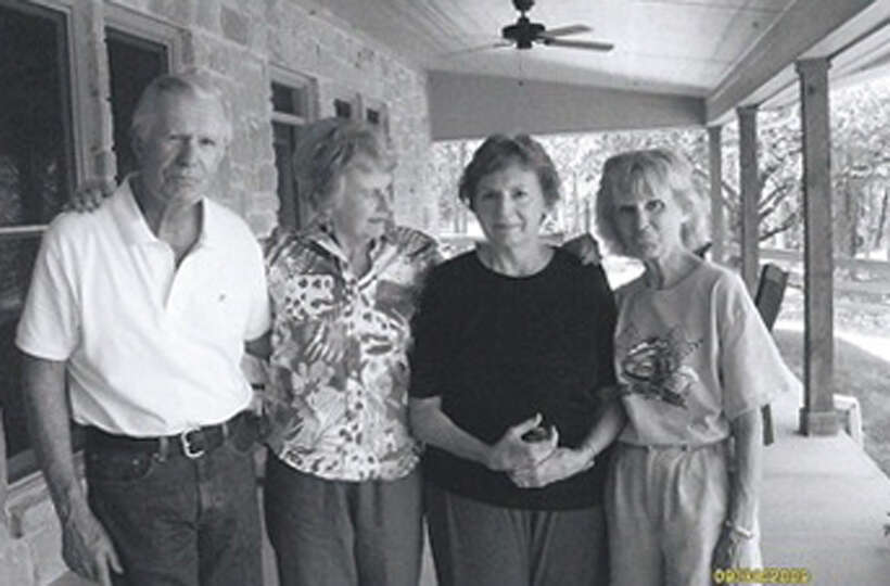 Cousins Yale Smith (from left), Yalene Smith, Bernice Bergman, Betty Eckerman during a reunion on po