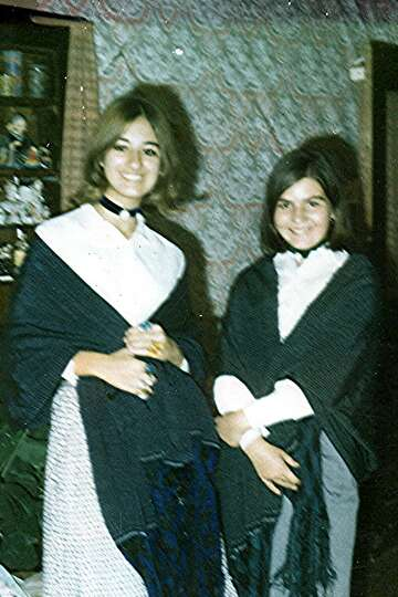 Cousins Cynthia Eloisa Smith, 15, and Debbi Josephine Robinson, 13, Thanksgiving, 1970. From Debbi Z