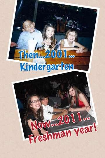 Top photo, left to right, Ramiro Muniz, Rachel Anaya and Mia Carranza celebrate their kindergarten g